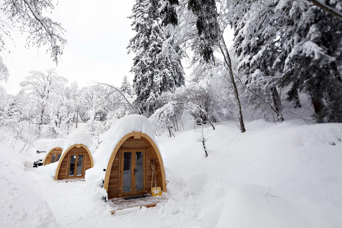 Hoteles con encanto: podhotel, un refugio ecológico para dormir entre la nieve