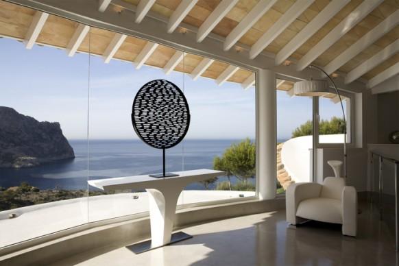 vistas al mar dediterráneo desde esta impresionante villa