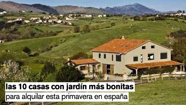 Las 10 casas con jardín más bonitas para alquilar esta primavera (fotos)