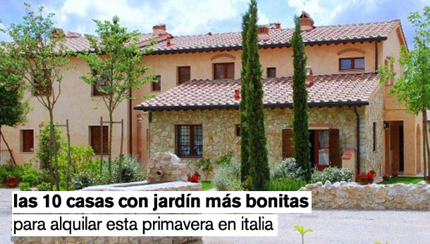 Las 10 casas con jard n m s bonitas para alquilar esta for Fotos de casas modernas con jardin