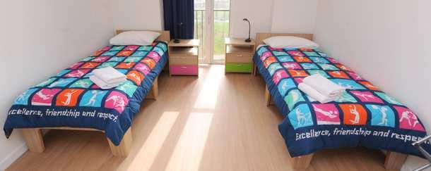 """imagen de uno de los dormitorios """"olímpicos"""""""