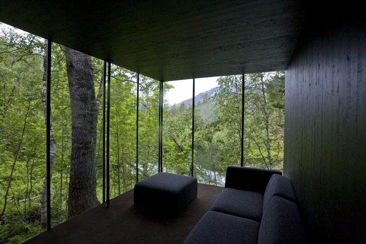 hoteles con encanto juvet landscape hotel mimetizado con el bosque de noruega u