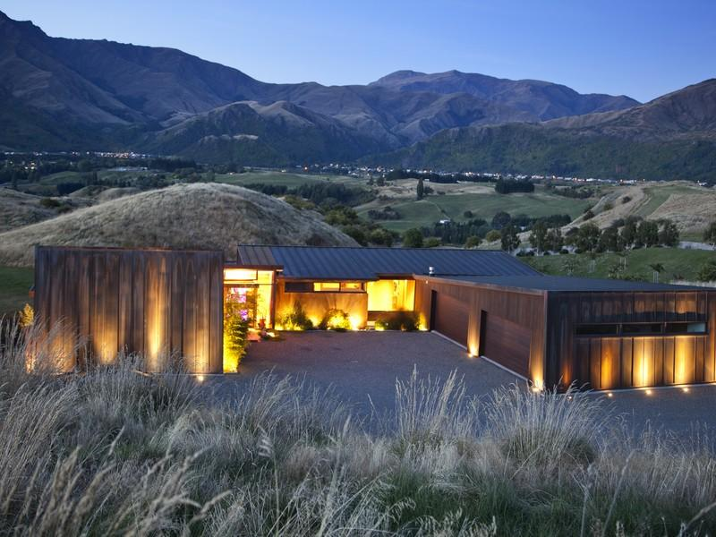 Video Nueva Zelanda News: Casas De Ensueño: Villa En Contraste Con La Naturaleza De