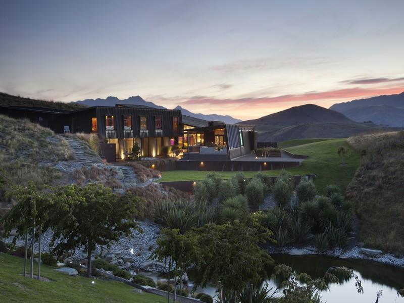 villa contemporánea en nueva zelanda