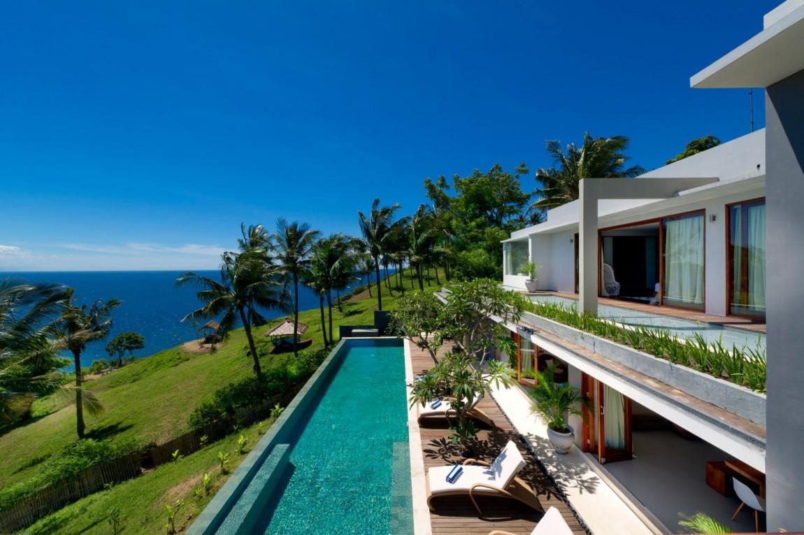 Casas de ensue o villa tropical con piscina de horizonte - Casas de ensueno ...