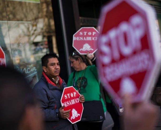 protestas contra los desahucios