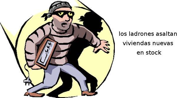 los ladrones que asaltan los pisos vacíos de los bancos, otro problema