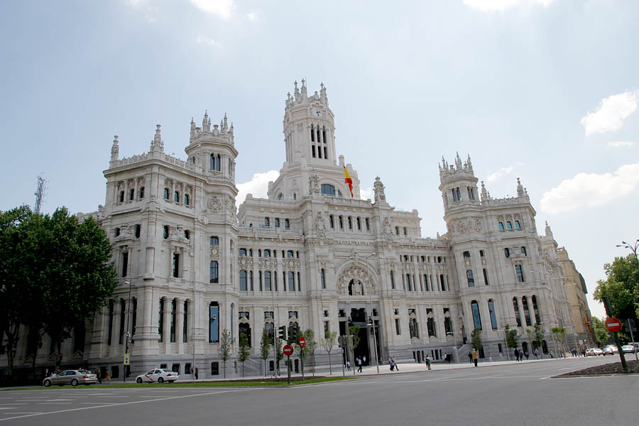 el ayuntamiento de madrid, cuyas obras de rehabilitación tuvieron un coste de 500 millones