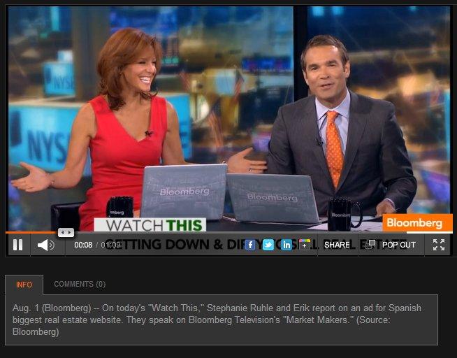 """El anuncio de """"pilladas"""" de idealista levanta pasiones en bloomberg tv"""