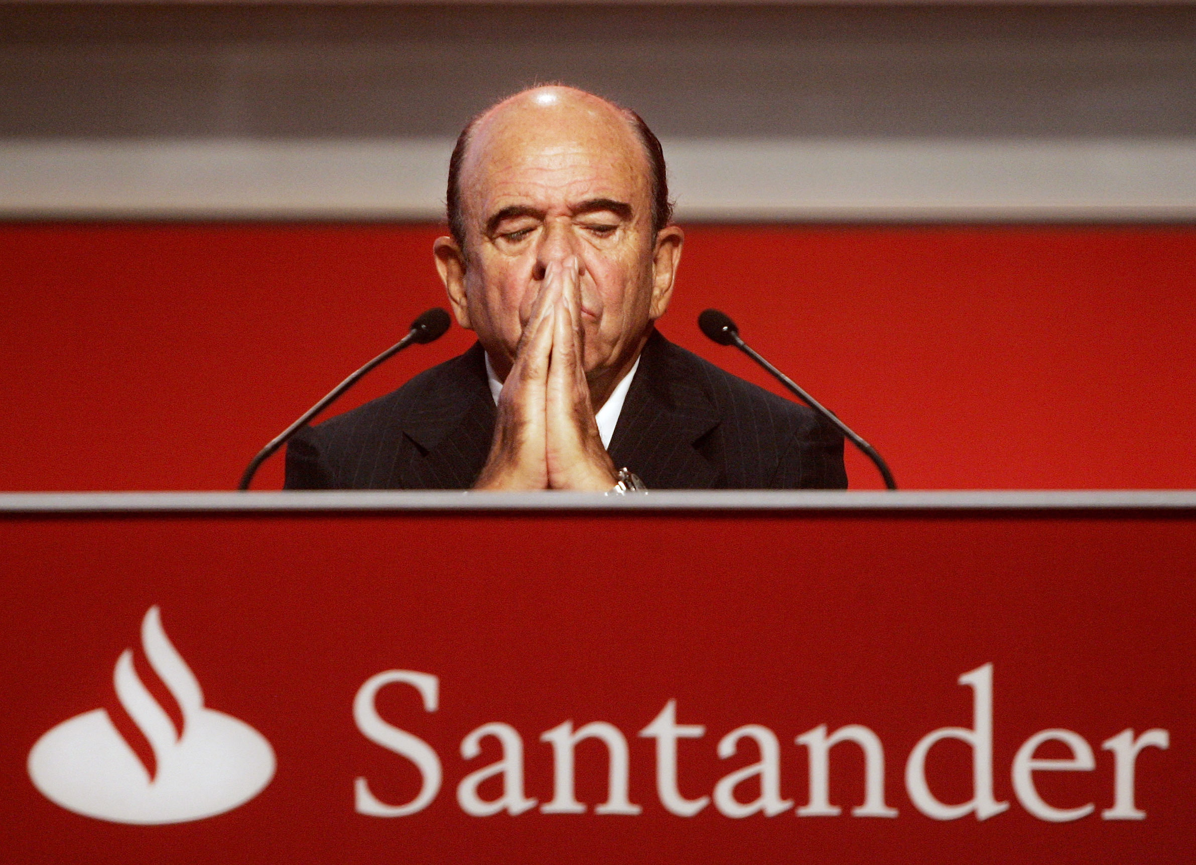 emilio botín, presidente de santander