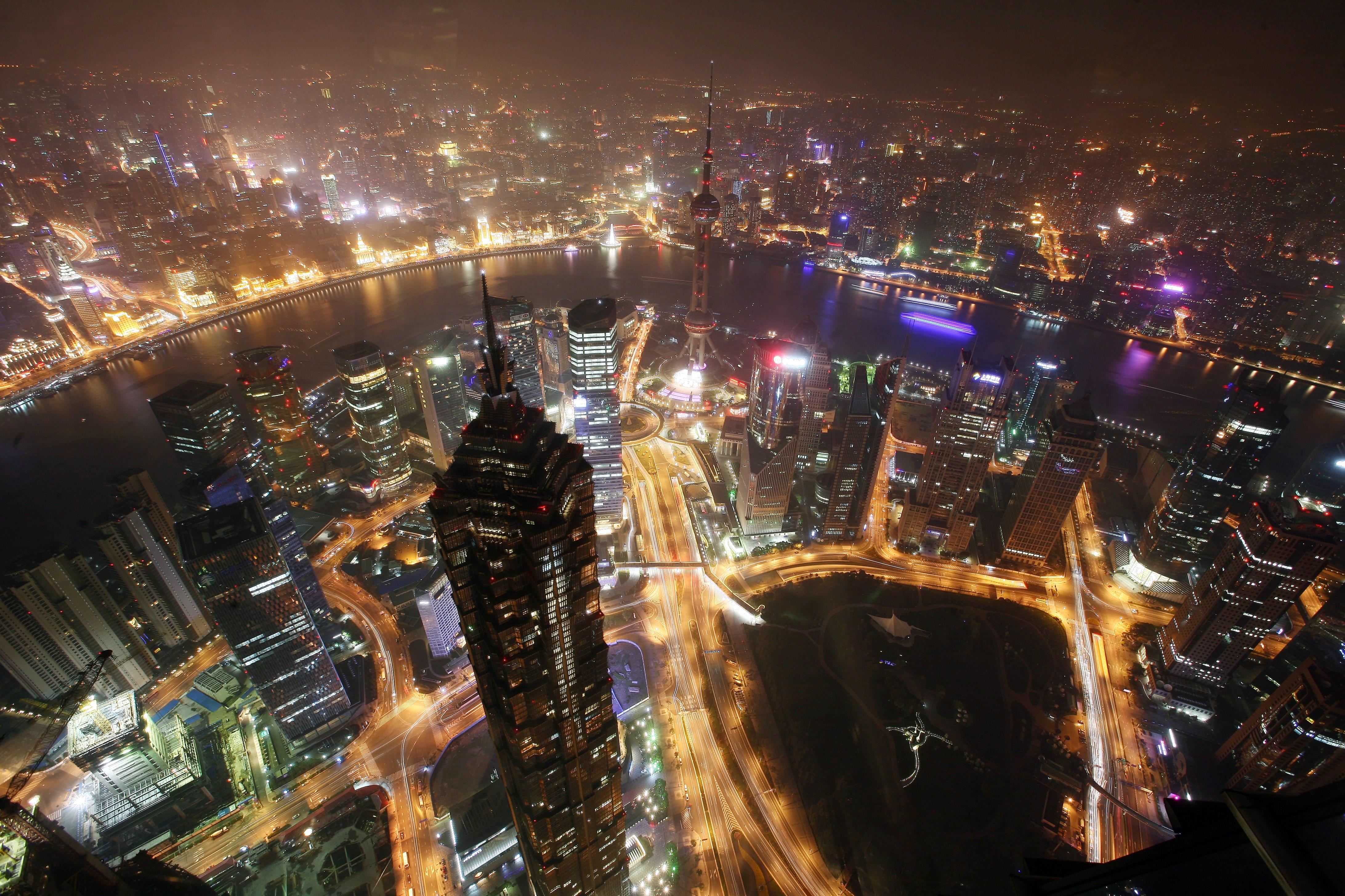 edificios en shangai