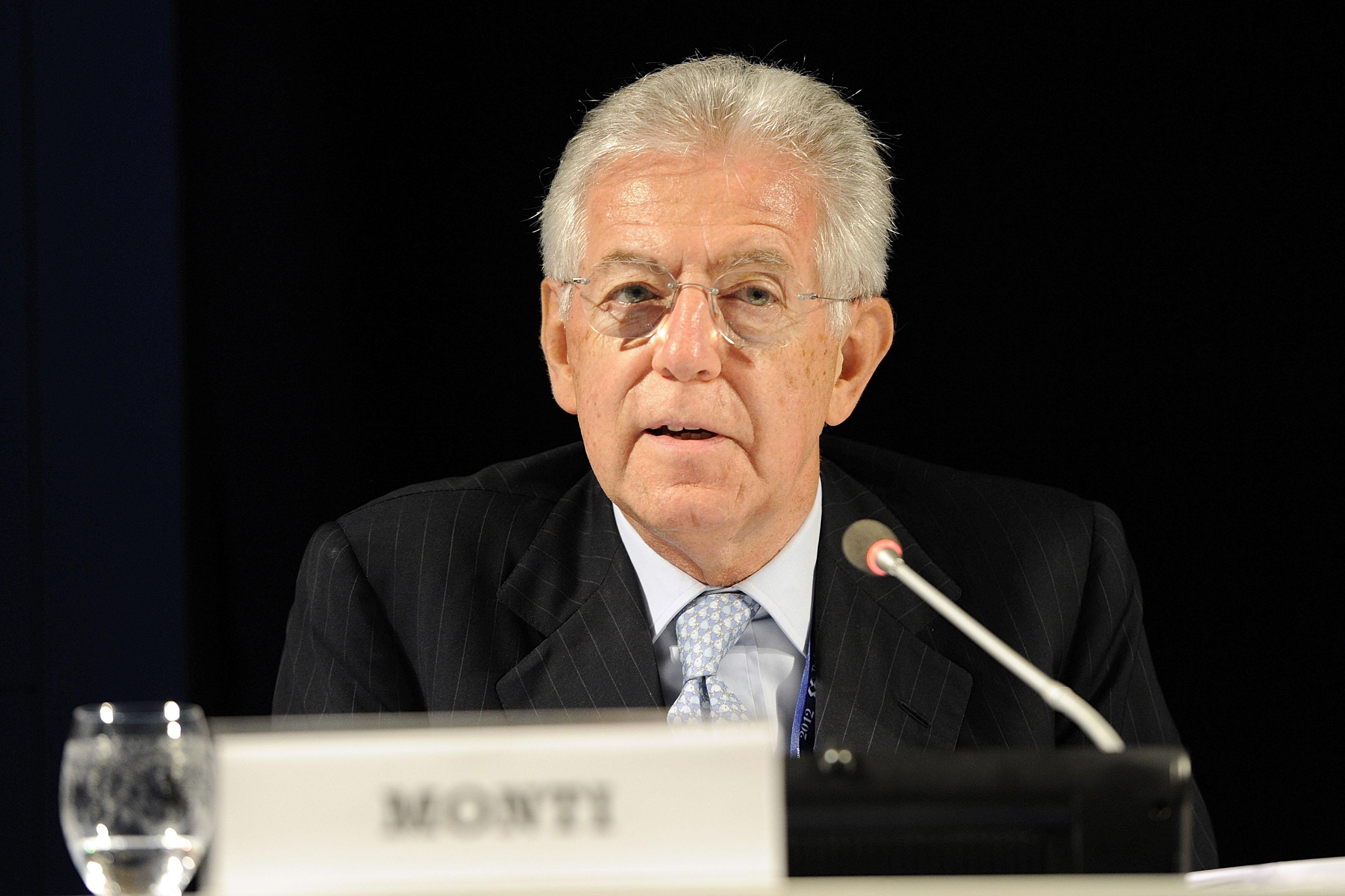 mario monti, primer ministro de italia