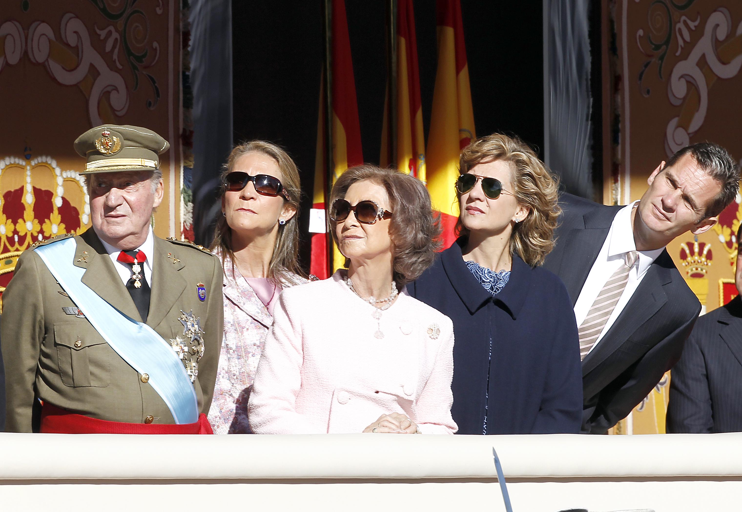 los reyes, la infanta elena y los duques de lugo (imagen de archivo)