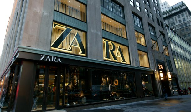 exterior de una de las tiendas de zara en nueva york