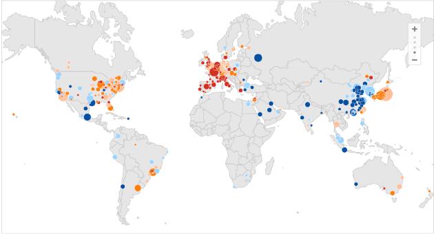 Valencia, Barcelona y Zaragoza, en el top de grandes ciudades con peor comportamiento económico del mundo (mapa)