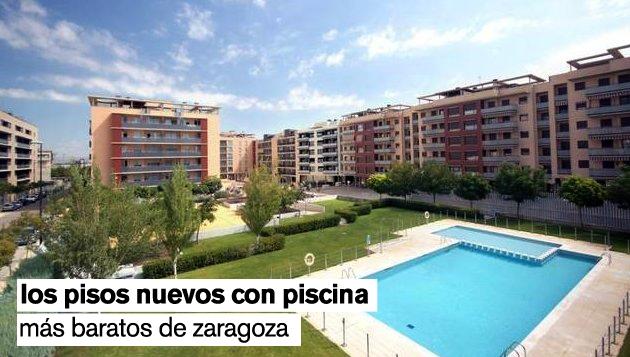 Los 10 pisos nuevos con piscina m s baratos de zaragoza for Somieres baratos en zaragoza