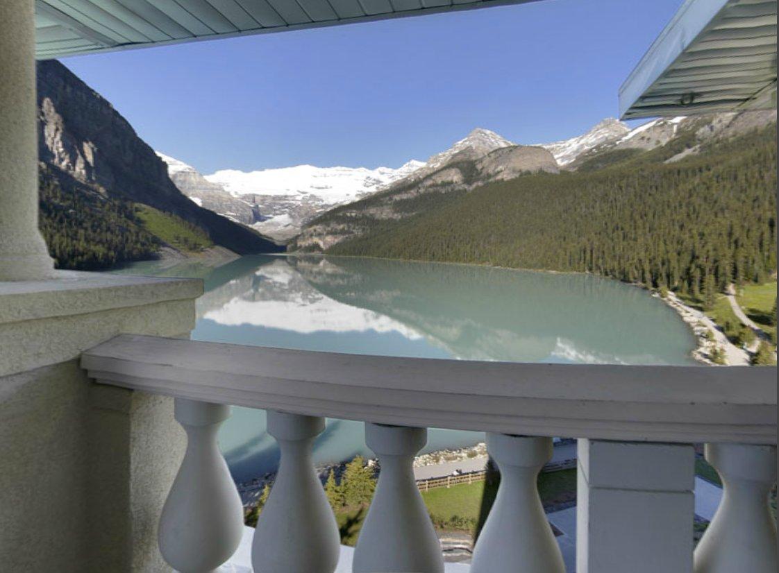 vistas al lago louise en canadá