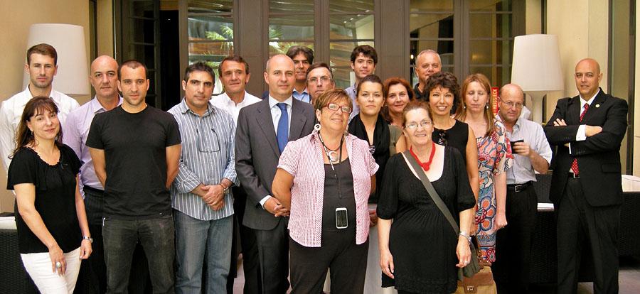 foto de familia del curso de idealista en 2012 en madrid