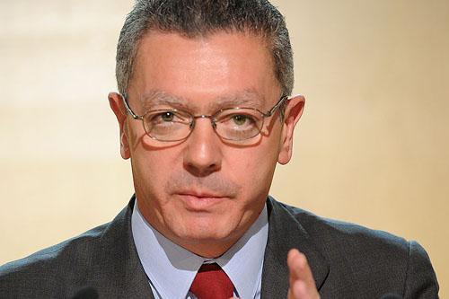 Alberto Ruíz Gallardón, ministro de justicia