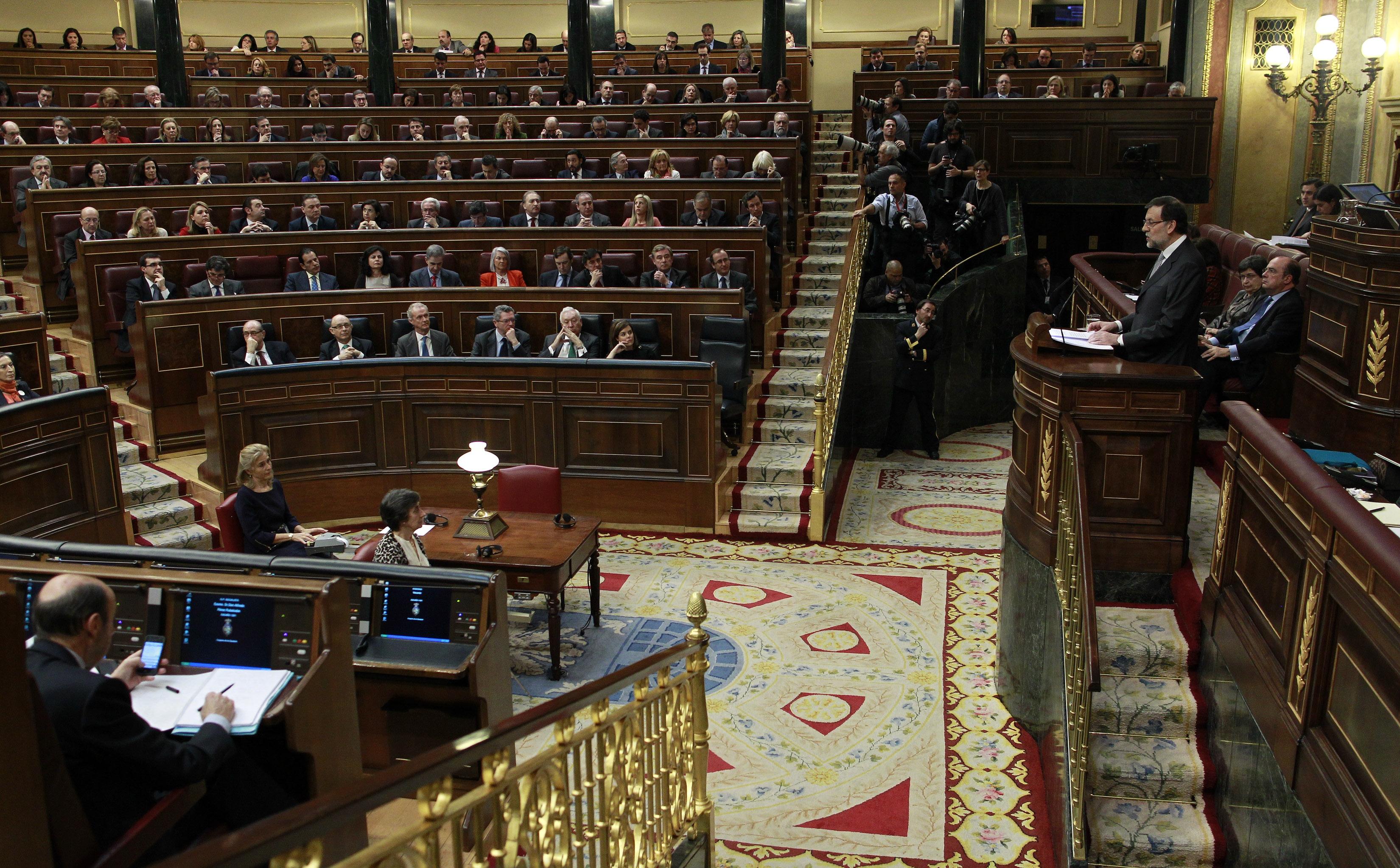 mariano rajoy, presidente del gobierno, durante el debate del estado de la nación