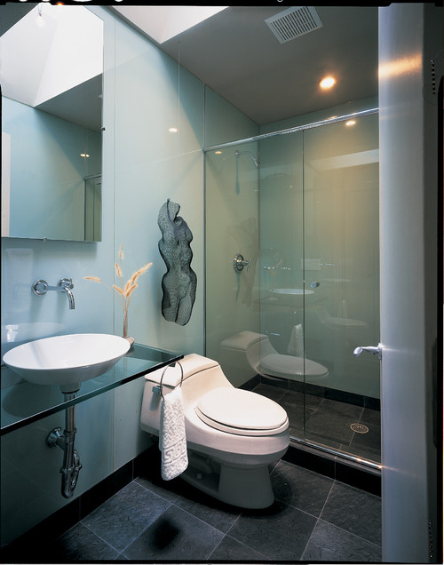 Ideas de decoraci n ba os peque os y modernos idealista for Modelos de apartamentos modernos y pequenos