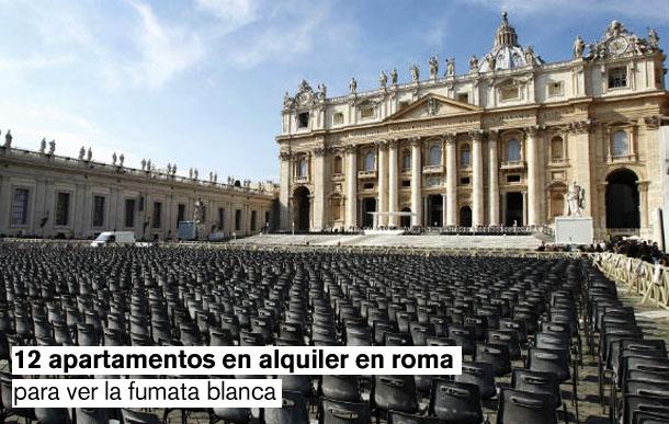 12 apartamentos en roma para ver la elección del nuevo papa