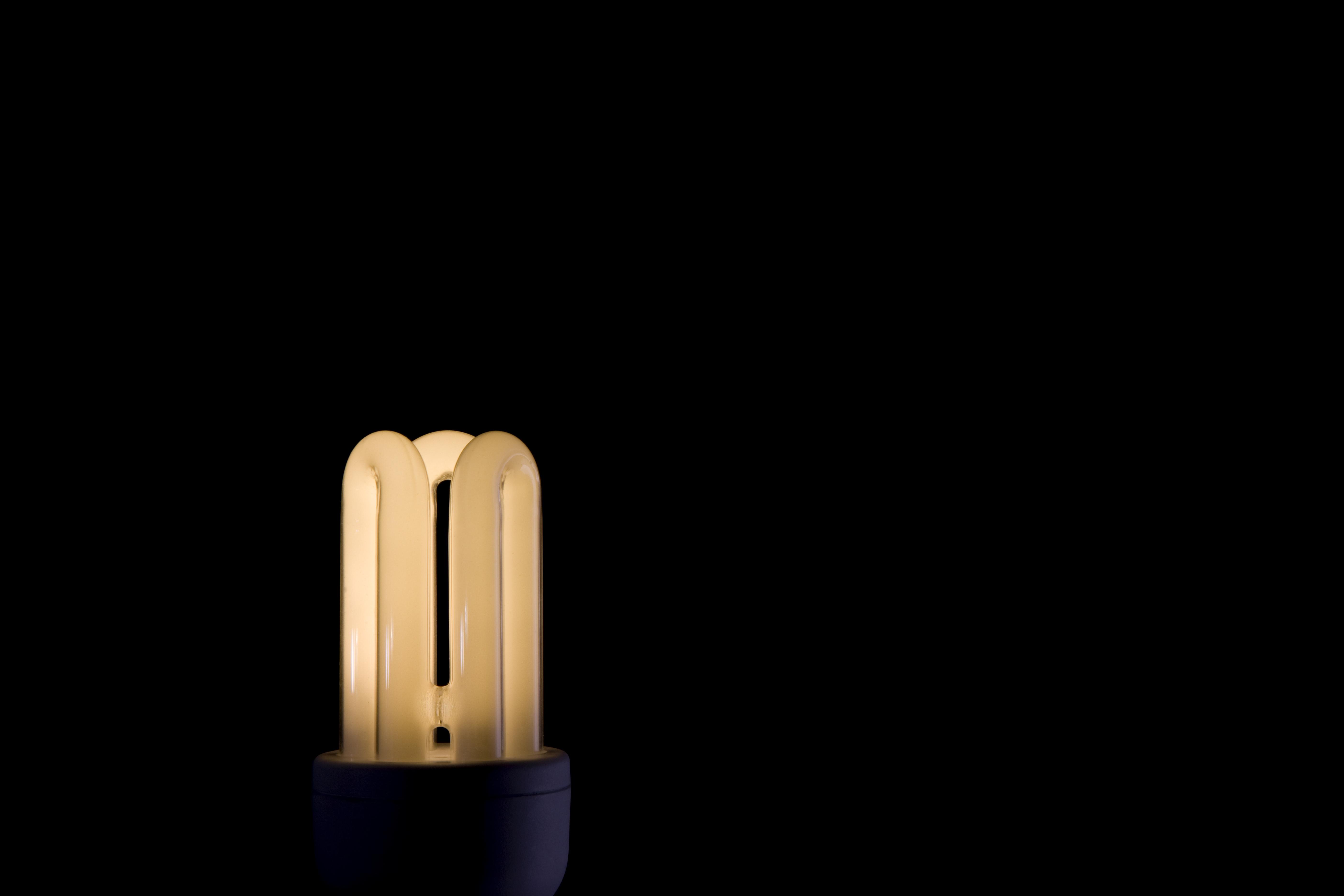 hay que diferenciar entre las bombillas incandescentes y las fluorescentes