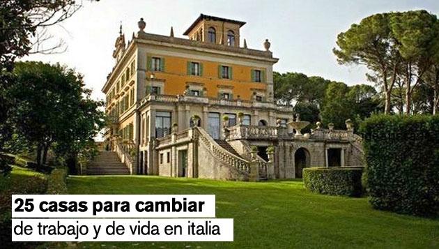 casas para cambiar de vida en italia