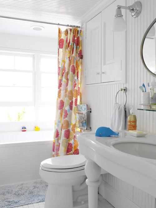 Cortinas De Baño Mas Largas:Bathroom White Shower Curtain