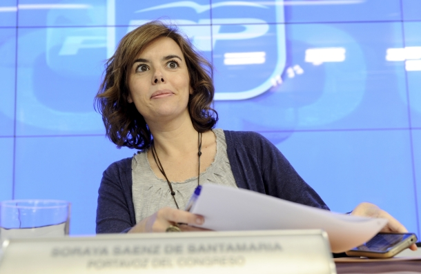 soraya sáenz de santamaría, portavoz del pp en el congreso