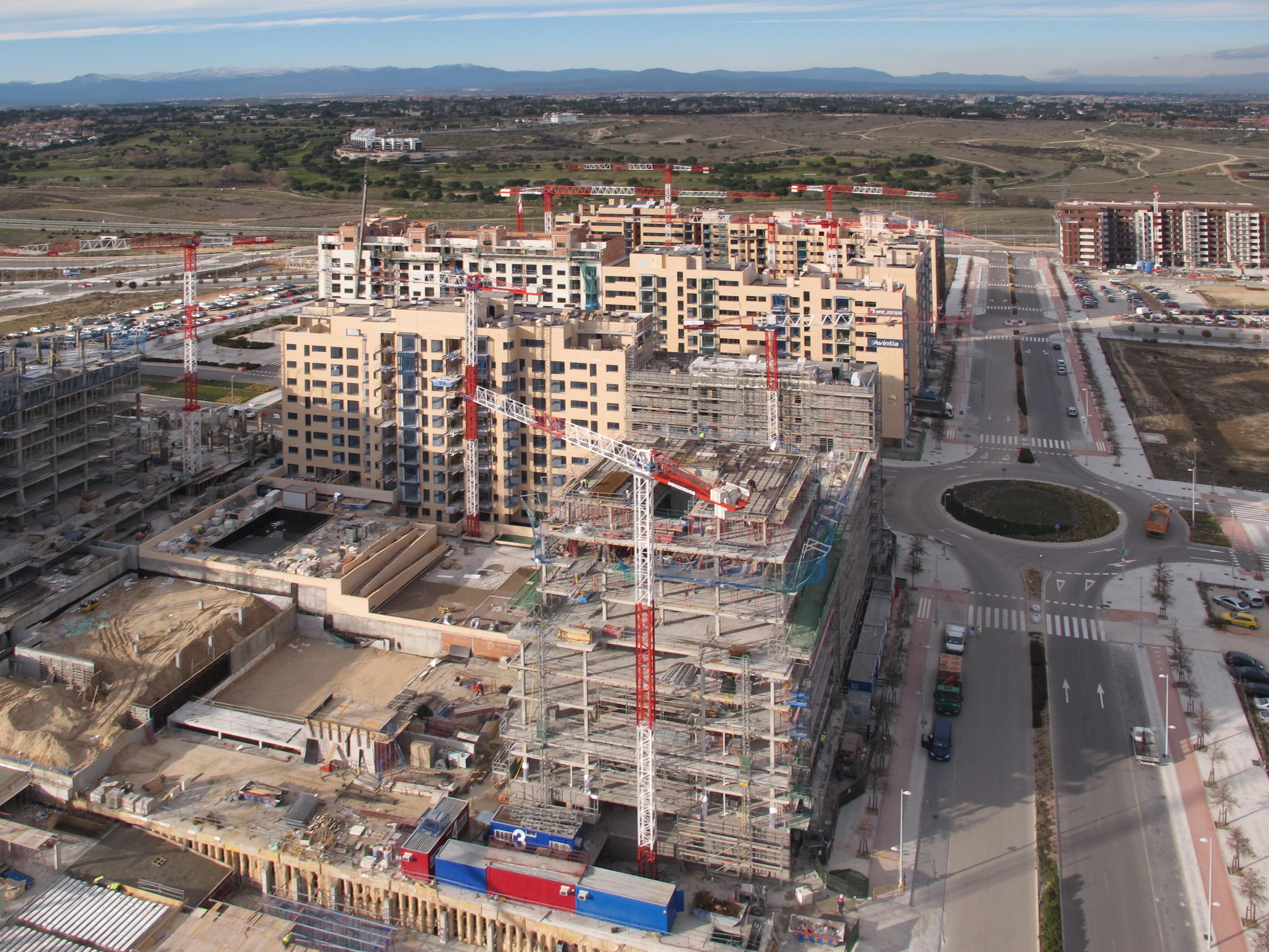 vista aérea de parte del pau de valdebebas