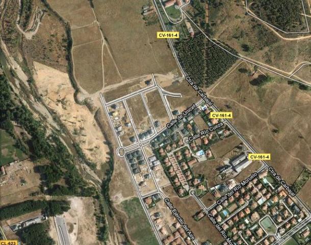 vista aérea de la zona donde la familia de zapatero construía su chalet en león