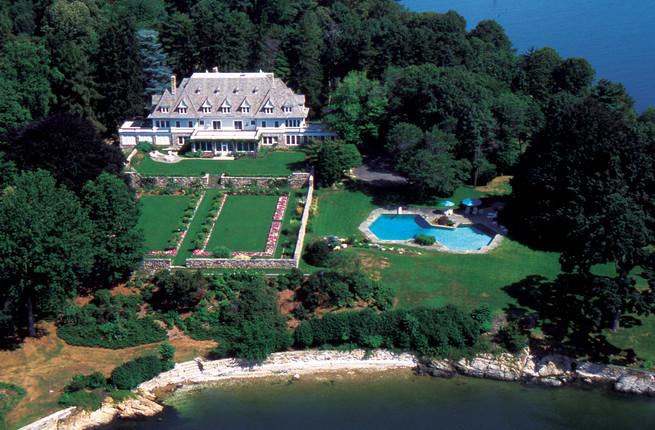 vista aérea de la casa más cara de eeuu