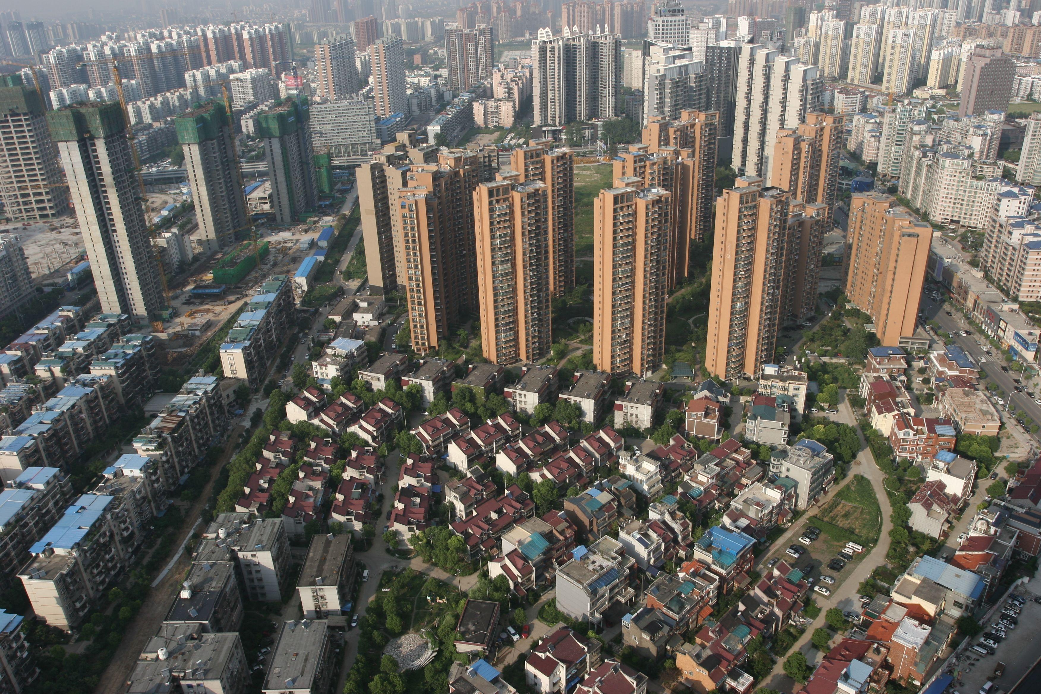 bloque de viviendas en china
