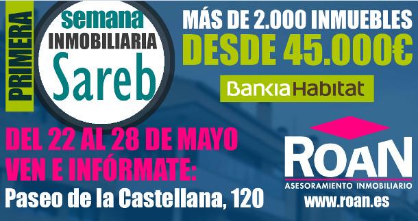 cartel del evento inmobiliario de sareb y bankia