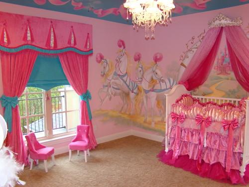 Habitaciones de princesas con una decoraci n exc ntrica - Habitaciones infantiles disney ...