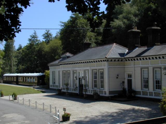 antigua estación de tren reconvertida en hotel