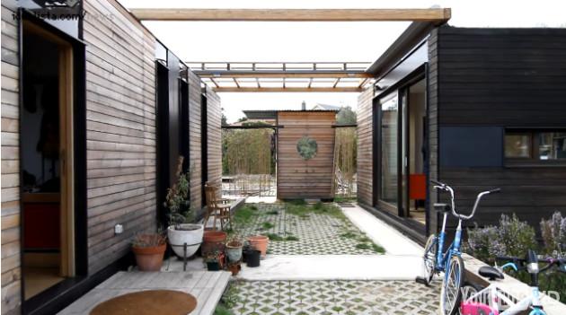 exterior de una vivienda eficiente