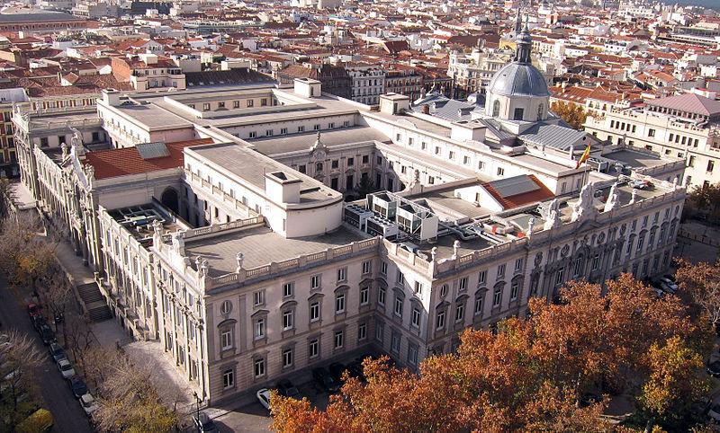 vista panorámica del tribunal supremo en madrid