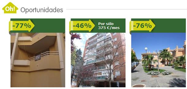 600 viviendas a la venta por un cuarto de su precio máximo