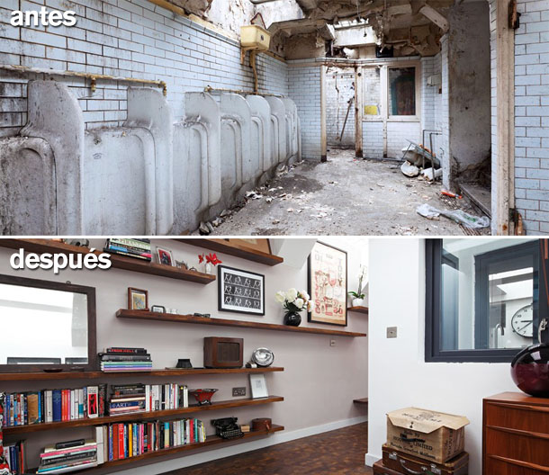 de baño público a vivienda de diseño