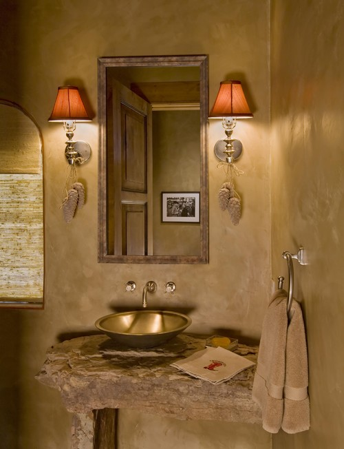 Ideas Para Decorar Baños Viejos:Ideas de decoración para baños rústicos pequeños (fotos