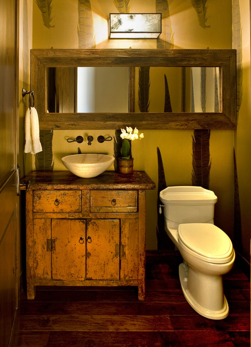 Baños Rusticos Modernos Pequenos:Rustic Half Bathroom Designs Ideas