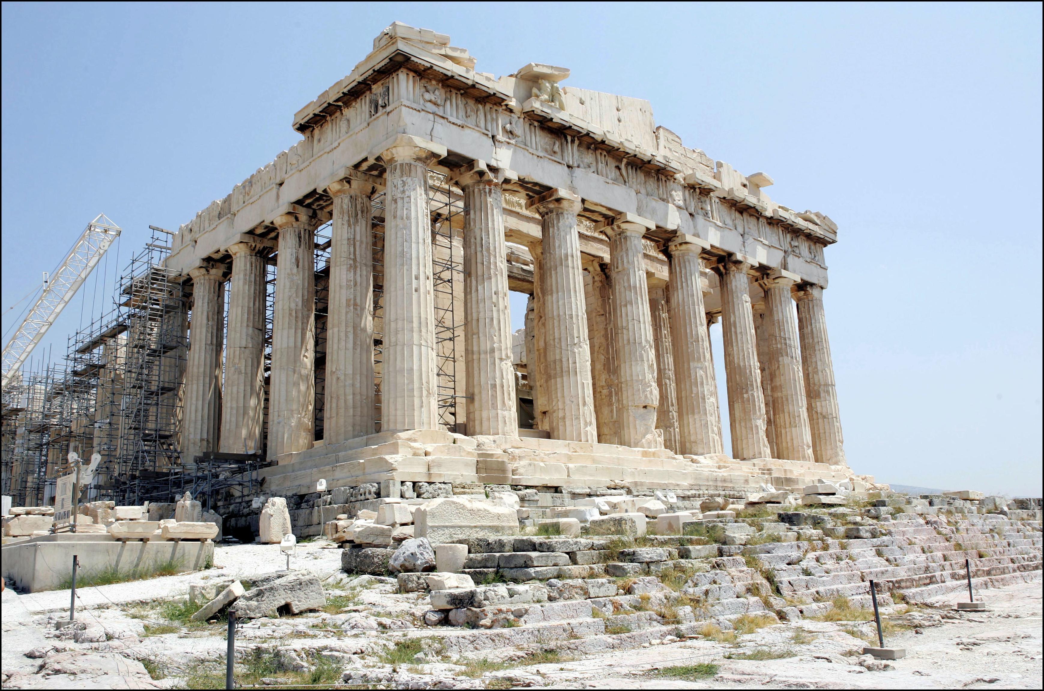imagen del partenón griego