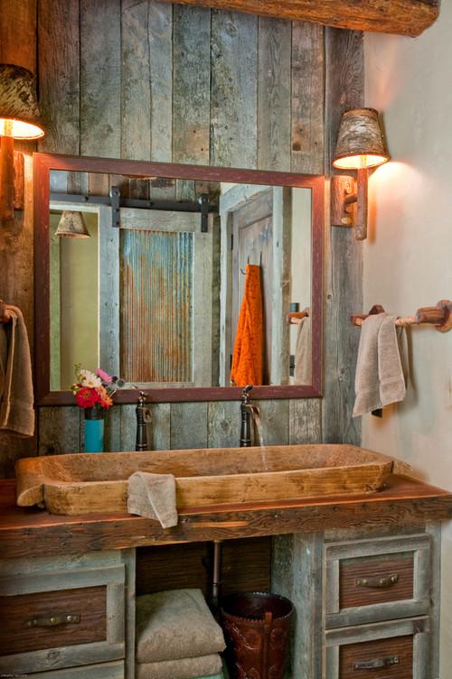 Baños Rusticos Originales:Ideas de decoración para baños rústicos pequeños (fotos
