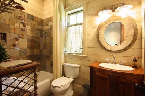 Ideas de decoración para baños rústicos pequeños (fotos)