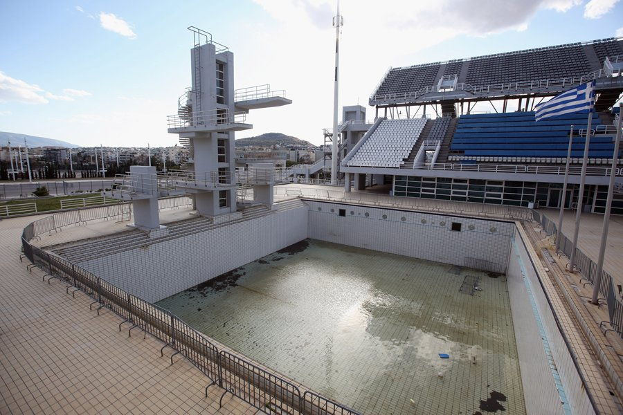 piscina olímpica en los jjoo de atenas 2004