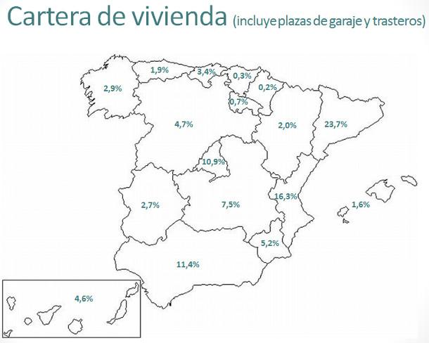 Mapas de la cartera de viviendas de suelo y de pr stamos for Bankia habitat oficinas