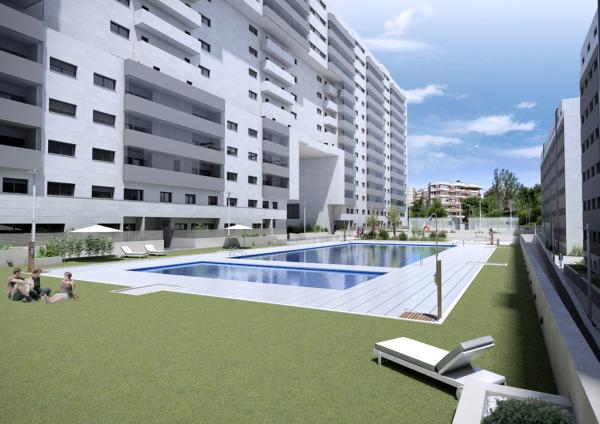 imagen de cómo será el exterior de esta promoción de viviendas