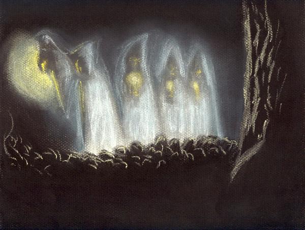 ilustración de la santa compaña